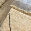 Beni ouarain n1159 - Neige, blanc, brodé, laine, épais, handmade, knotted, marrakech, morocco rug