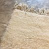 Beni ouarain n1164- White spirit, blanc, uni, laine, épais, handmade, knotted, marrakech, morocco rug