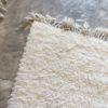 Beni ouarain n1163- White spirit, blanc, uni, laine, épais, handmade, knotted, marrakech, morocco rug