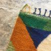 Beni ouarain n1165 - Bimba, tapis, marrakech, rug, design, couleurs, orange, bleu, colorés deco, morocco
