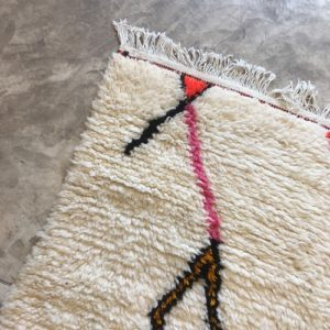 Azilal n1174 - Lollipop, tapis marocain, handwoven, coloré, sheep wool, deco, artisanat du Marrakech