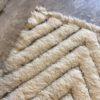 Beni ouarain n1178 - Santa Barbara, blanc, brodé, laine, épais, handmade, knotted, marrakech, morocco rug